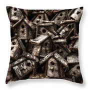 Birdhouses Throw Pillow
