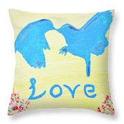 Birdie Love Throw Pillow