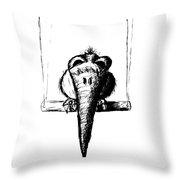 Birdie On A Swing Throw Pillow