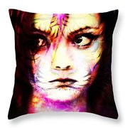 Birdie, The Wery One Of Her Own. Throw Pillow