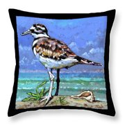 Birdman Of Alcatraz Bird 3 Detail Throw Pillow