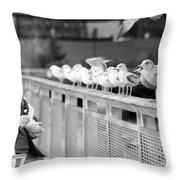 Birdman Of Lower Manhattan Throw Pillow