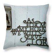Birds And Bible Verse Throw Pillow