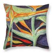 Birds And Fishes Throw Pillow