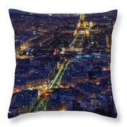 Bird's Eye On Paris 2 Throw Pillow