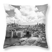 Bird's Eye View Hoboken Nj Throw Pillow