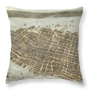 Birds Eye View Of Charleston Throw Pillow