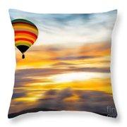 Birds Eye View Of Sunset Throw Pillow