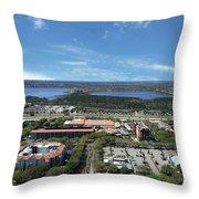 Birds Eye View Orlando Florida Throw Pillow