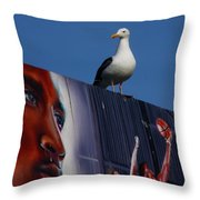 Birds Eye View Throw Pillow