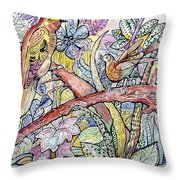 Birds For Louise #3 Throw Pillow