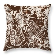 Birds From The Old World Throw Pillow