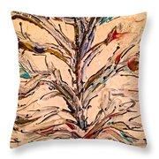Birds In A Tree Throw Pillow