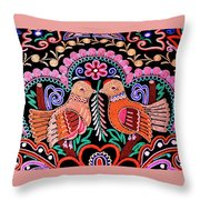 Birds In Love Throw Pillow