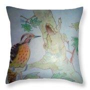 Bird's Life Throw Pillow