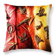 Birds Of A Decor Feather Throw Pillow