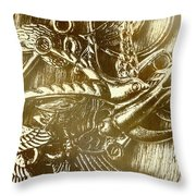 Birds Of Metal Throw Pillow