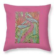 Birds Of Paradise Throw Pillow