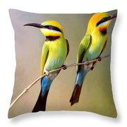 Birds On A Branch Throw Pillow