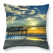 Birds On The Roof Sunrise Tybee Island Throw Pillow
