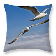 Birds On The Wing Throw Pillow