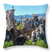 Birds On Tufa Towers-mono Lake Throw Pillow
