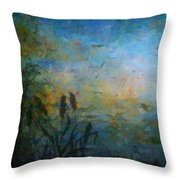 Birds Over The Lake Throw Pillow