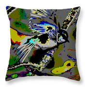 Birds That Fly In Electric Skies Throw Pillow