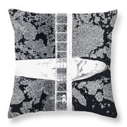 Birdseye View Of Bridge Throw Pillow
