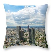 Birdview Of Frankfurt Am Main Throw Pillow