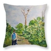 Birdwatching On Honeymoon Island Throw Pillow