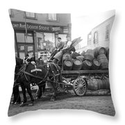 Birk Brothers Brewing Company C. 1895 Throw Pillow