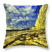 Birling Gap And Seven Sisters Art Throw Pillow