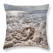 Birling Gap Waves Throw Pillow