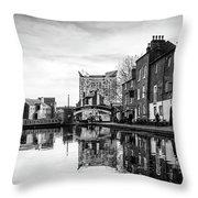 Birmingham Canal Throw Pillow