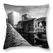 Birmingham Waterway Throw Pillow