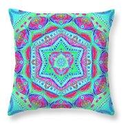 Birth Mandala- Blessing Symbols Throw Pillow