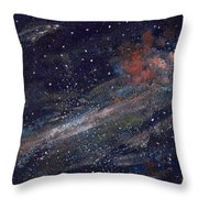 Birth Of A Galaxy Throw Pillow by Elizabeth Lane