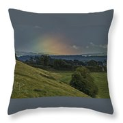 Birth Of A Rainbow Throw Pillow