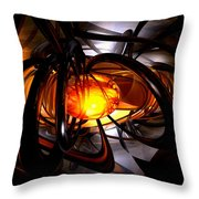 Birth Of A Sun Abstract Throw Pillow
