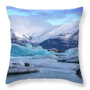 Birth Of An Iceberg Throw Pillow