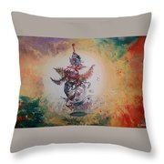 Birth Of Colors Throw Pillow