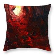 Birth Abstract Art Throw Pillow