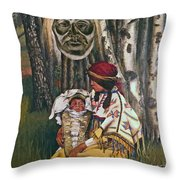 Birth Spirit Throw Pillow