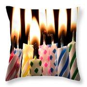 Birthday Candles Throw Pillow