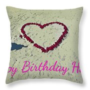 Birthday Card For Lover Throw Pillow