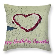 Birthday Card For Sweethearts Throw Pillow