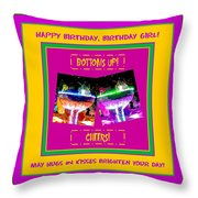 Birthday Girl's Birthday Wishes Throw Pillow