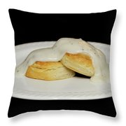 Biscuits And Gravy Throw Pillow
