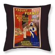 Biscuits Pernot Throw Pillow